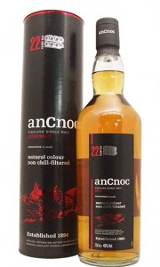 AnCnoc 22 Year Old Single Highland Malt Whisky