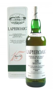 Laphroaig 15 Year Old Islay Malt, UK Edition with Tin