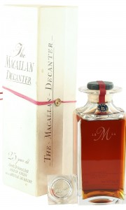 Macallan 1963 25 Year Old, Crystal Decanter with Stopper and Box