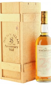 Macallan 1965 25 Year Old Anniversary Malt, UK 1990 Bottling with Box