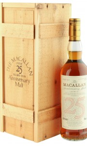 Macallan 1965 25 Year Old Anniversary Malt, UK 1991 Bottling with Box
