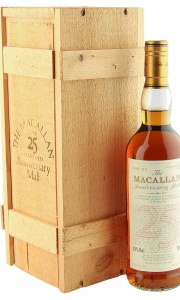 Macallan 1966 25 Year Old Anniversary Malt, UK 1992 Bottling with Box