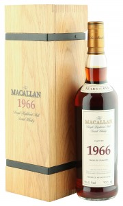 Macallan 1966 35 Year Old, Fine & Rare 2002 Bottling with Wooden Case