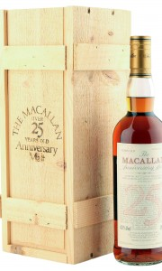 Macallan 1971 25 Year Old Anniversary Malt with Presentation Box