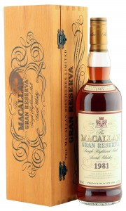 Macallan 1981 18 Year Old Gran Reserva with Presentation Box