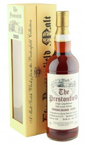 Springbank 1970 34 Year Old, Prestonfield Sherry Cask #1631 with Box