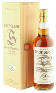 Springbank 25 Year Old Millennium Edition with Wooden Box